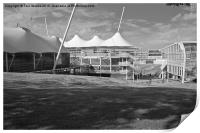 Cricket Ground Southampton Black And White, Print