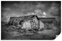 Fisherman's Hut in Mono., Print