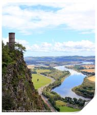 Kinnoull Tower Overlooking River Tay, Print