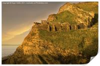 Dawn on Tintagel Castle, Print