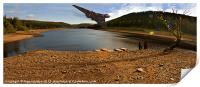 Vulcan Over Derwent Reservoir, Print
