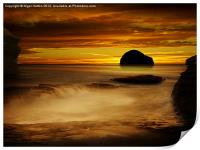 Trebarwith Strand at Sunset, Print