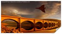 Vulcan Over Ladybower , Print