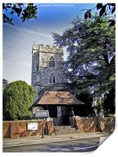 St Mary's Church, Horsell,, Print