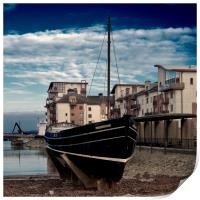 The Watchful at Ayr Harbour, Print