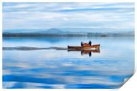 Boat on the Loch, Print