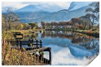 Caledonian Canal and the Nevis Range, Print