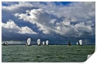 Racing yachts in the Solent, Print