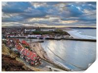 Afternoon light, Whitby harbour, Print