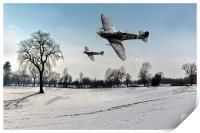 Boys will be boys: low-flying Spitfires, Print