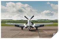 D-Day Mustang on dispersal, Print