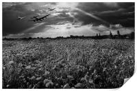 The final sortie, black and white version, Print