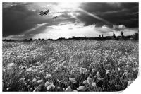 The final sortie WWI black and white version, Print