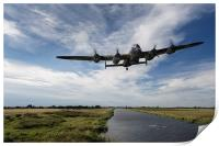 617 Squadron Dambusters Lancaster at low level, Print