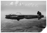 Lancaster AJ-N carrying Upkeep B&W version, Print