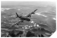 Short Stirling air test black and white version, Print