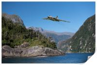 Vulcan leaving Milford Sound, Print