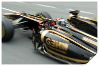 Robert Kubica - Lotus Renault - Spain, Print