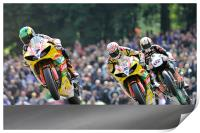 Tommy Hill, Michael Laverty, Shane Brne at Cadwell, Print