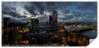 Night view of the city of London, Print