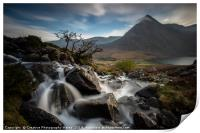 Tryfan from Afon Lloer, Snowdonia National Park, Print