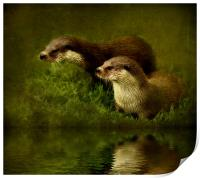 Otters Watch, Print