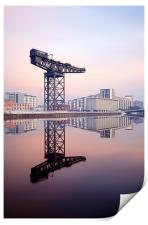Glasgow Finnieston crane reflection, Print