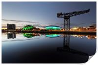 Glasgow River Clyde Waterfront, Print