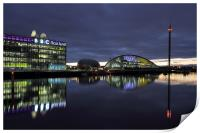 Glasgow River Clyde - Pacific Quay at Sunset, Print