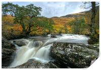 Waterfall in the Scottish Highlands, Print