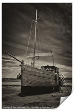 Old Fishing Boat, Print