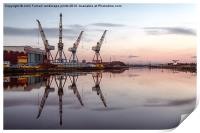 Cranes on the Clyde, Print