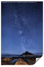 The mount and the milkyway, Print