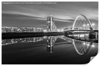 Glasgow by night, Print