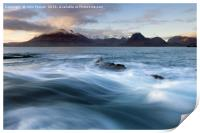 Elgol and the Black Cuillin, Print