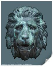 Antique Lion Face, Dublin, Print
