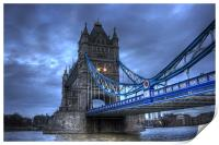 Tower Bridge in Blue, Print