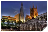 Shard and Southwark Cathedral, Print