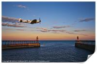 spitfire at whitby, Print