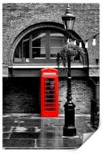 British Red phonebox, Print