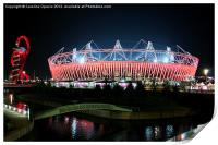 Olympic Stadium by night, Print