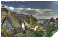 Cottages at cadgwith, Print