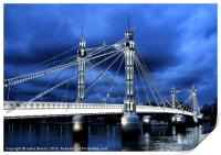 Albert bridge, London, Print