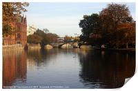 River in Bedord, Print