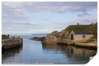 The harbor at Ballintoy in Northern Ireland, Print