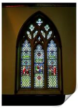 North Stained Glass Window Christ Church Cathedral, Print