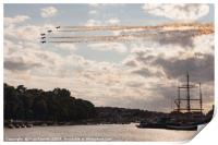 Red Arrows in Weymouth, Print