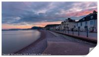 Evening in Sidmouth, Print