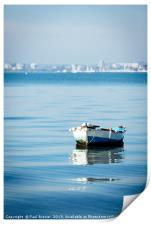 Boat in Poole Harbour, Print