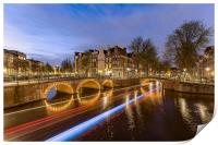 Amsterdam canal by night, Print